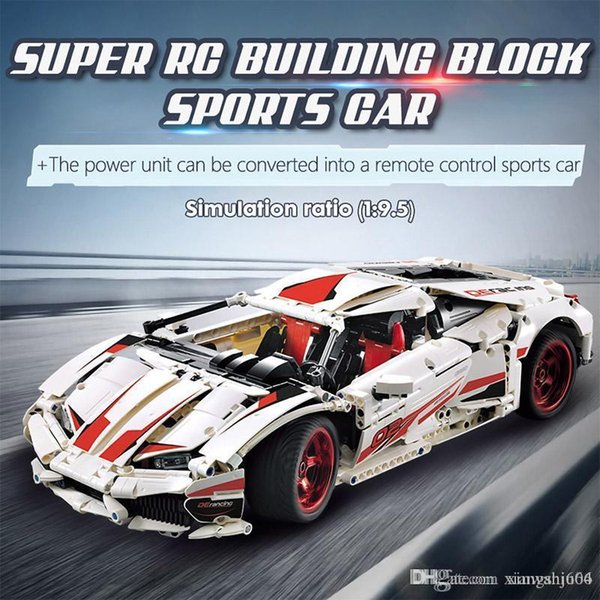 best selling CADA City RC non-RC Racing Car MOC Building Blocks ing Technic remote control Sports Car Bricks Toys For Children