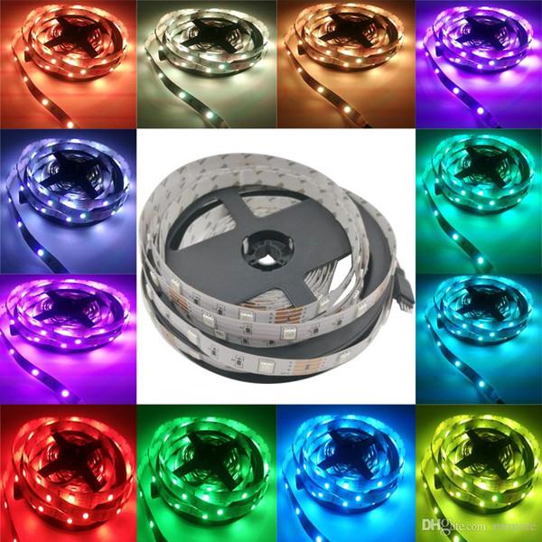 5 M 5050 RGB led şerit esnek şerit ışık RGB Şerit 60LED / m No-Su Geçirmez led ışık RGB bant diyot Şerit
