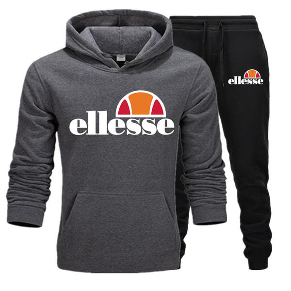 Повседневные толстовки брюки костюм хлопок материал кофты ellesse pattern пуловер согреться толстовка итальянский бренд продвинутые комплекты спортивной одежды