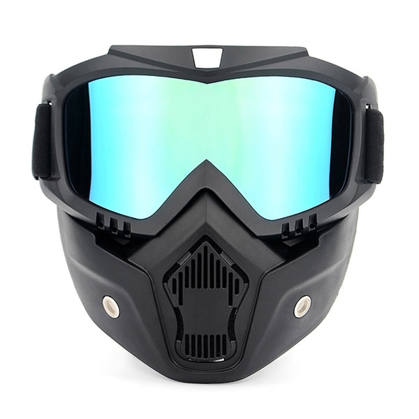 Cycling Eyewear Bike Glasses Motorcycling Goggles UVA400 Protection Winter Skiing Goggle Riding Sports Goggle with Detachable Mask