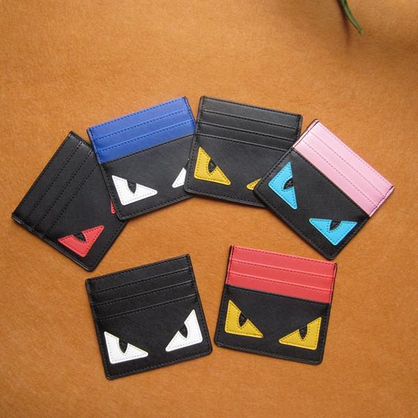 The Little Monsters Monedero Ranura para tarjeta de crédito Bolsa de dibujos animados Pasaporte Titular Cubre Hombres Mujeres Diseñador Slim PU monedero Estudiantes Monedero B61202