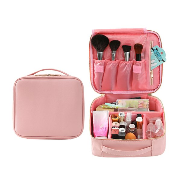 New 2019 Fashion Cosmetic Bag Travel Makeup Organizer Cosmetics Pouch Bag High Quality Make Up Professional Makeup Case