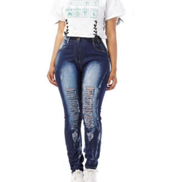 Новые Смешать Юниоры джинсы Женщины Pant Джинсовый Stretch джинсы тощий рваные штаны Проблемные