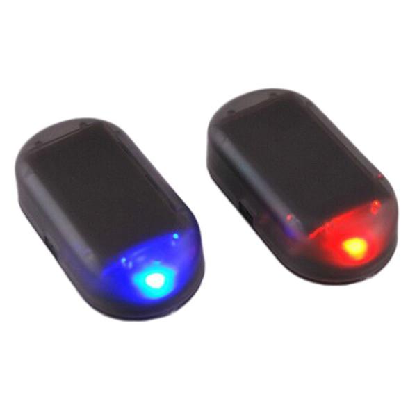 1PCS Solar Power Car Alarm Lamp Security System Warning Theft Flash Red/ Blue