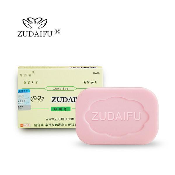 5pcs / lot zudaifu Zolfo Sapone della pelle condizioni acne Psoriasi Eczema seborrea Anti Fungo Bagno sbiancamento sapone shampoo fabbricazione del sapone SH190918