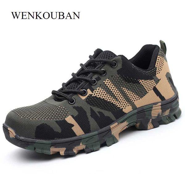 Nuove scarpe antinfortunistiche Calzature per uomo esterne in acciaio Calzature antinfortunistiche per uomo Stivali industriali antigraffio per edilizia