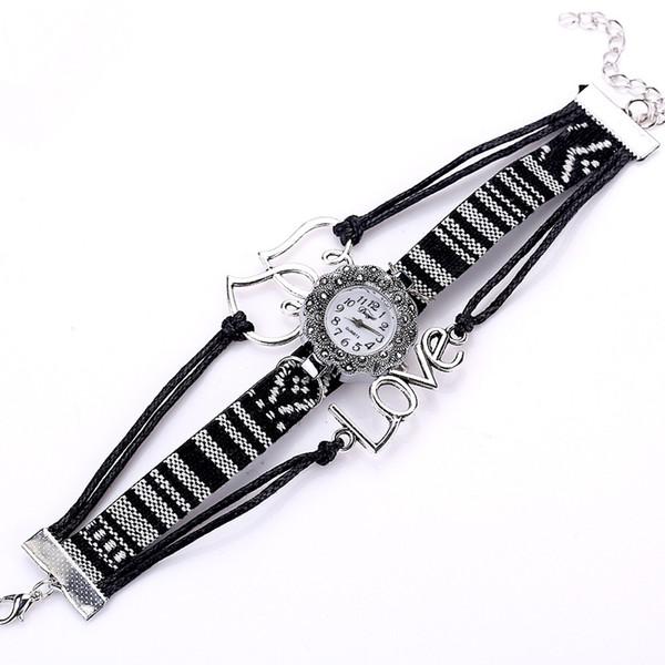 High Quality Beautiful Fashion Women Bracelet Watch Women Fine Winding Analog Quartz Movement Wrist Watch