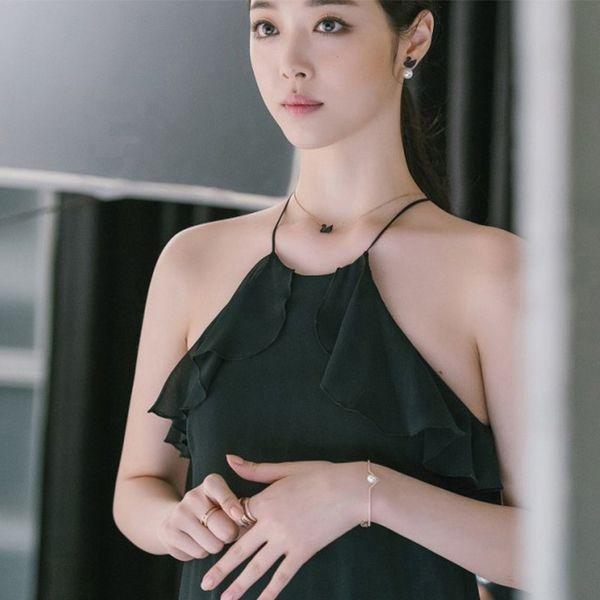 2019 New Fashion Crystal Black Swan Pendant Collane Designer Collana Gioielli semplici Regalo moda donna all'ingrosso