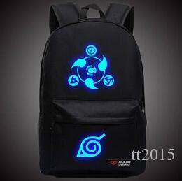 Naruto Luminous Rucksäcke Hokage Schule Reise Laptop-Tasche für Jugendliche japanischen Anime Canvas Rucksack Bolsas Escolar