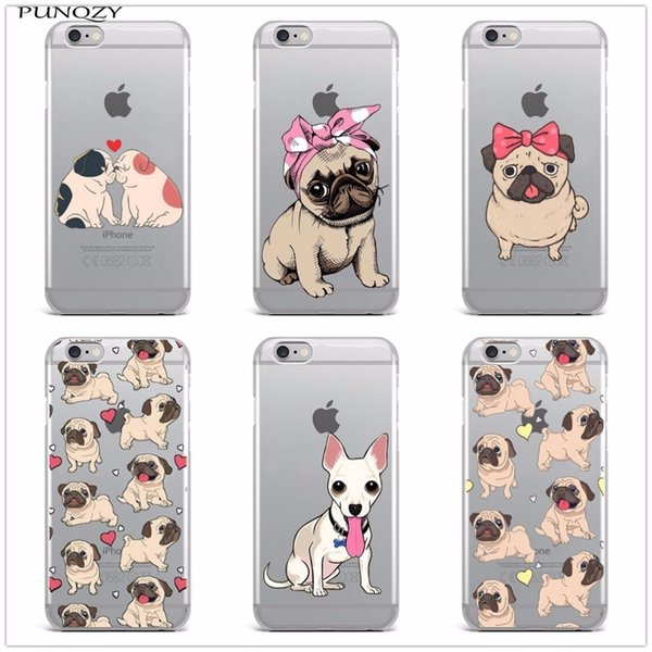 For Iphone 6 Cute Cartoon Animal Dog Pug Tpu Soft Silicone Phone Case For Iphone X 8 8plus 7 7plus 6s 6plus 6splus 5 5s Se