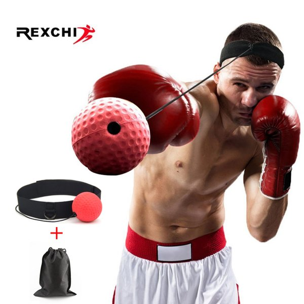 Rexchi Kick Boxing Reflex Kopf Band Kampf Geschwindigkeitstraining Punch Ball Muay Tai Mma Trainingsgeräte Sport Zubehör C19040401