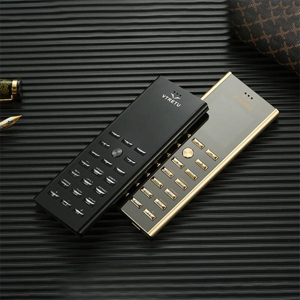 Brand originale sbloccato V01 Luxury Gold Black Metal Corpo Custodia Cellulare Dual Sim card Cellulari Cellulari Bluetooth FM Mp3 Camera