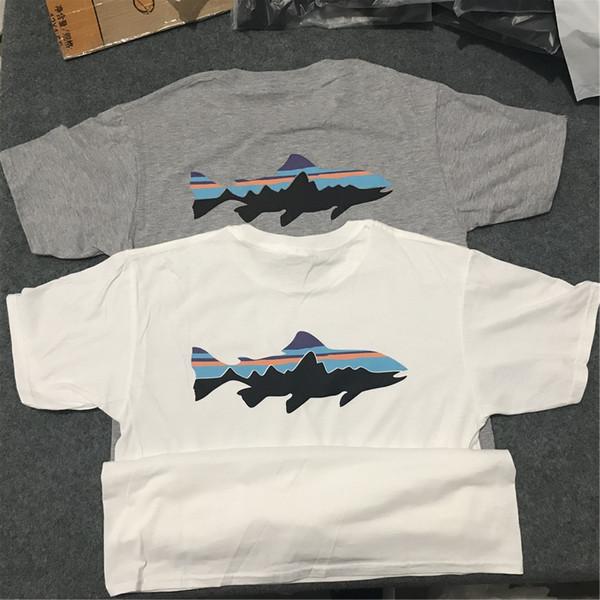 Summer Casual Men Printed Cotton Designer T Shirts Tees Hip Hop Short Sleeve Outdoor Gray T Shirts