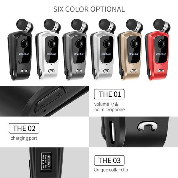Fineblue F920 Bluetooth Kulaklık Ucuz Sıcak Satmak Mini Kablosuz Sürücü Auriculares Kulaklık Stereo Geri Çekilebilir Klip Audifonos Koşu Kulaklık