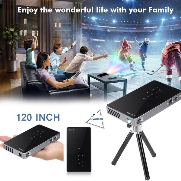 top popular P8 120 INCH Android Smart Portable Mini Projector Home WIFI Projector 2019