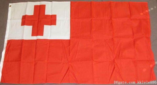 Bandiera Tonga 90 x 150 cm in poliestere Bandiera nazionale Tongan South Pacific Island National