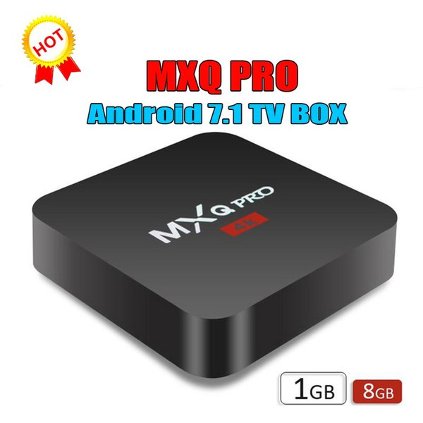 1 PCS MXQ Pro 4K android 7.1 amlogic S905W RK3229 TV Box 1GB/8GB eMMC flash h.265 HEVC HDR VP9 Android Boxes Media Player