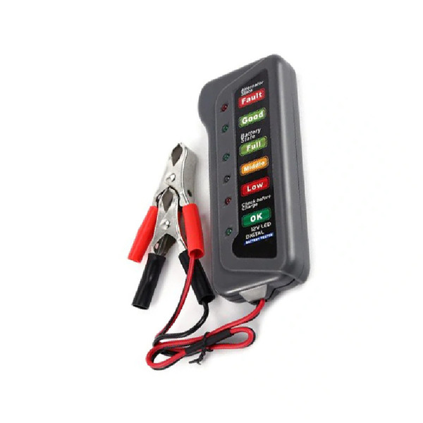 1PC Car Battery Alternator Tester Maintenance Tool Grey