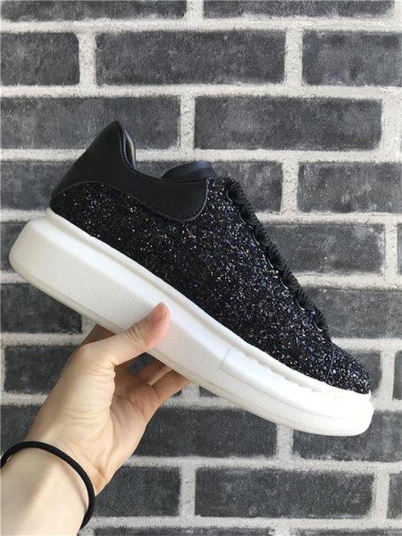 Schwarzer Glitter