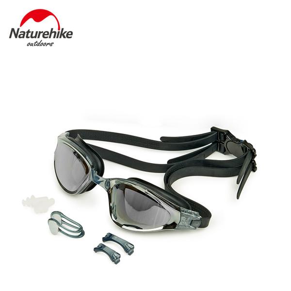 vente en gros 2018 nouvelles lunettes de natation lunettes de natation fraîches anti-buée Protection UV triathlon lunettes de natation 3 couleurs pour hommes adultes