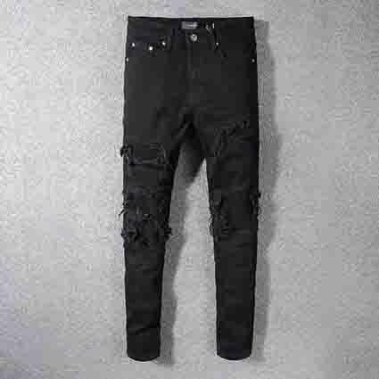 Die Jeans privater kundenspezifischer klassischer Gezeitenmänner der Art und Weise amiri Männer spornt hochwertige Cowboyhosen des Sport-Tendenzmannes im Freien an