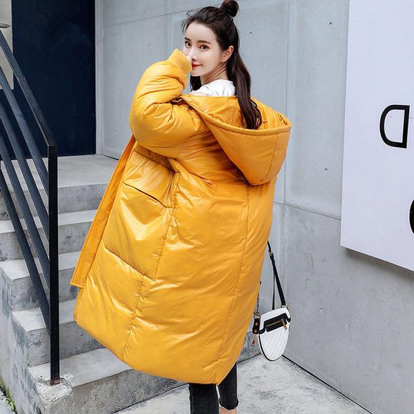 Winter Long Jacket Women Parka Coat Warm Thicken Hooded BF Style Jacket Coat Long Sleeve Plus Size Ladies Winter Parkas Z33
