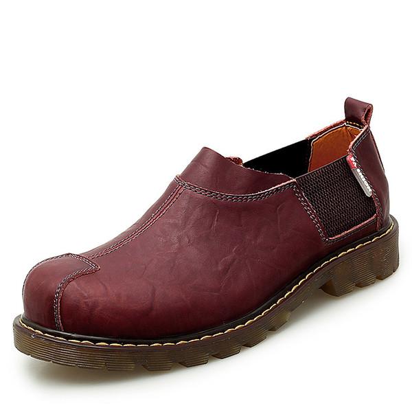 2019 Новые моды дышащая мужская обувь Оксфорд Лучшие платья качества обувь Мужчины Flats натуральная кожа Повседневная работа 38-47