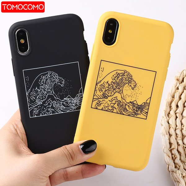 competitive price f4d72 3183e The Great Wave Off Kanagawa Back Cover Soft Phone Case Fundas For IPhone  7Plus 7 6Plus 6 6S 5S 8 8Plus X XS Max Customize Your Own Cell Phone Case  ...