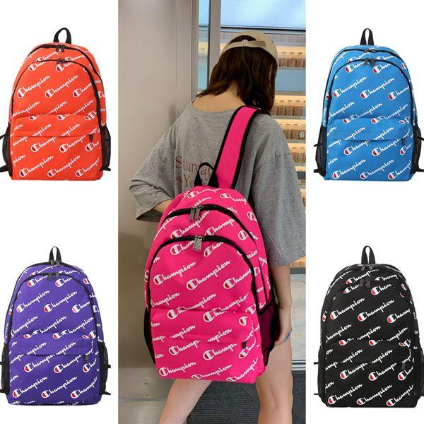 Designer Shoulder bag Brand Champion Print Backpack Women Men Laptop Bags Canvas Large Capacity Travel Duffel Students School Bag B71304