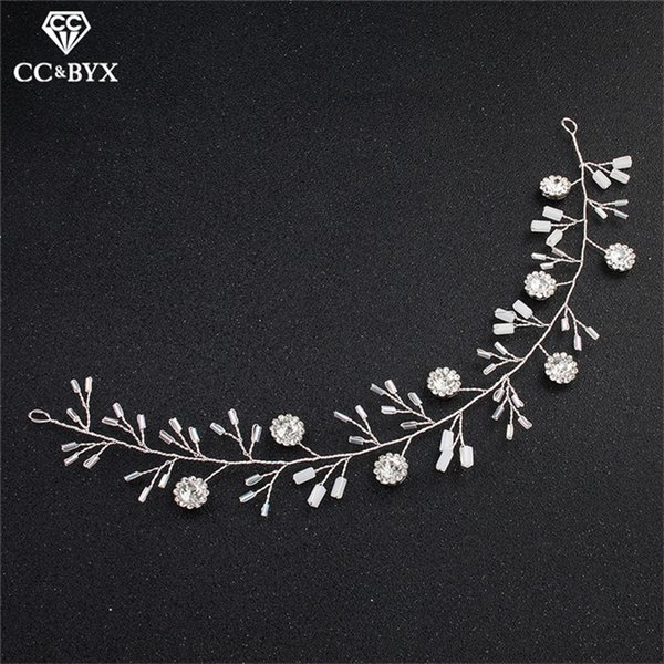 CC Wedding Jewelry Headbands Hairbands Engagement Pearl Hair Accessories For Bridal Exquisite Flowe Shape Simple Design hx265