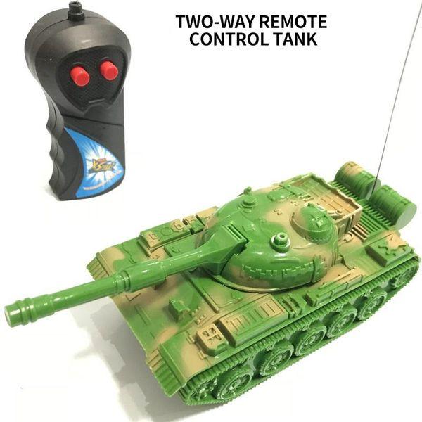 Remote Control Baby Car Tank Radio Rc Car Toy Remote Control 2wd Model Toys For Children Boy Simulation Tank Mini Plastic