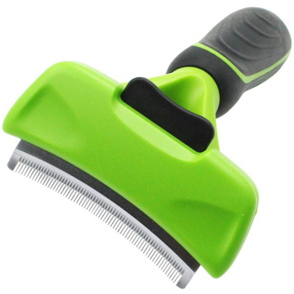 Pet Cat Grooming Comb Hair Remover Brush For Cats Animals Stainless Steel One Key Clean Furmins Cat Trimmer Comb Pet Supply Y19061901