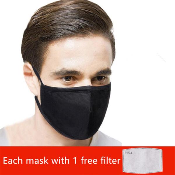 Negro (cada una mascarilla con filtro de 1 gratis)