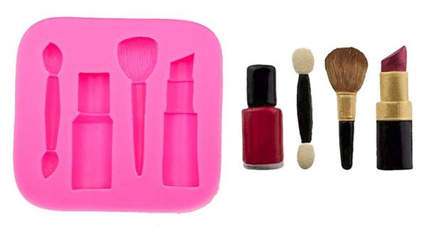 make-up tools lippenstift nagellack schokolade Party DIY fondant kuchen dekorieren tools silikonform Kuchenwerkzeuge