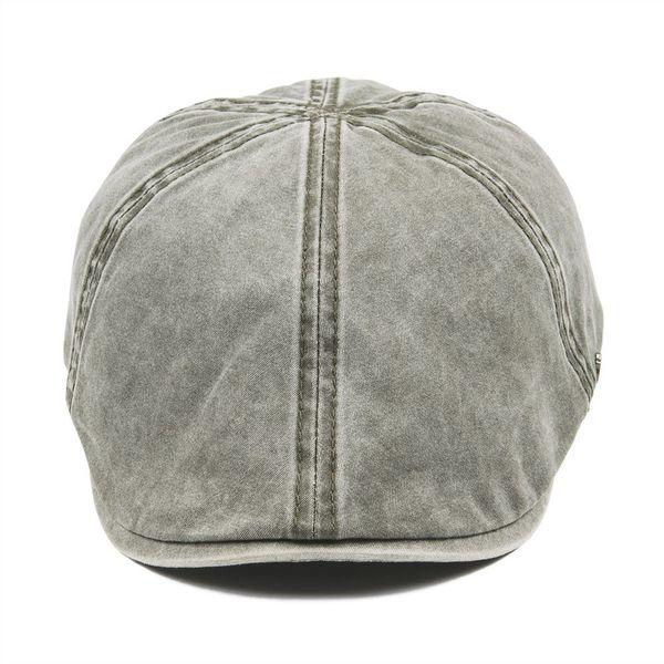 wholesale Green Cotton Flat Cap Men Women Newsboy Caps 6 Panel Gatsby Hat Baker Boy Hats Cabbie Driver Boina 157