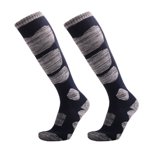 2018 Autumn Winter Warm Ski Socks Men Women Outdoor Cycling Snowboarding Hiking Sport Long Hose Thicker Thermosocks Cotton