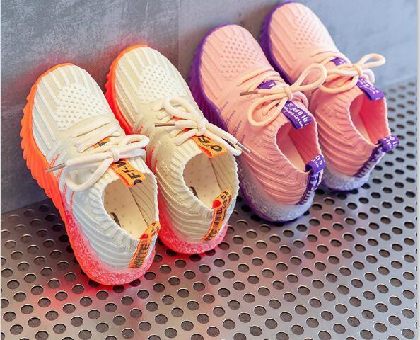 Sneakers Catamite Panno per schermo Casual Bambino Ragazza Moda Ragazzo Scarpe per bambini Pelle Viola Ragazza Autunno Bambini Calze Scarpa