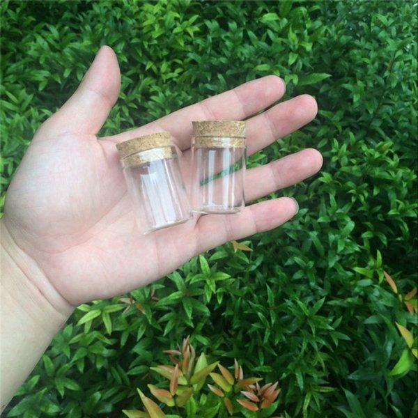 200 ADET 30 * 40mm Mantar Tıpa Ile 15 ml Cam Şişeler Kavanozlar Tüp Test Boş Cam Şeffaf şeffaf Şişeler