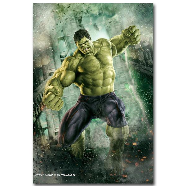 Hulk-Avengers Marvel Süper Kahramanlar Film Sanat İpek Poster 24x36 inç 24x43 inç
