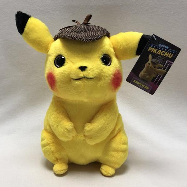 New Pikachu Plush Toy 11inch Anime Cartoon Movie Pikachu 11'' Stuffed Plush Doll Children's Toy Kids Birthday Gift