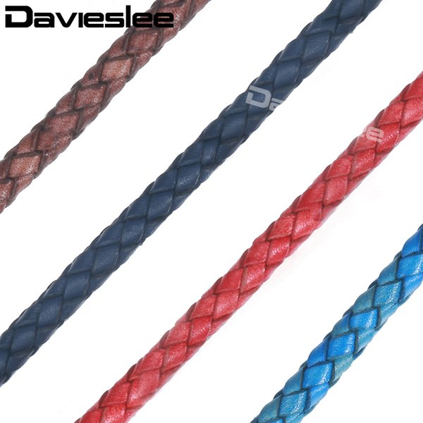 wholesale DIY Jewelry Making Accessories Genuine Leather Rope String Chains For Leather Bracelet Necklace Wholesale 6mm DALG02