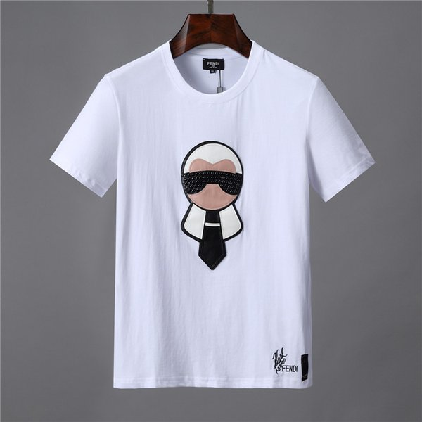 2019 Fashion Brand Designer T Shirt Hip Hop White Mens Clothing Casual T Shirts For Men With Letters Printed TShirt Size M-3XL