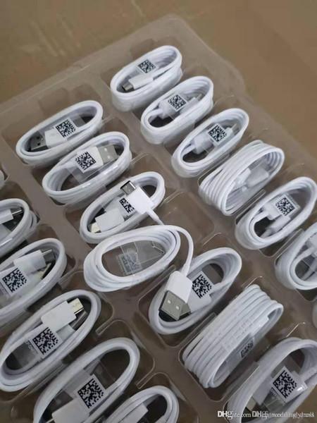 Orijinal USB C Tipi C Tipi Hızlı Şarj Kablosu Samsung Galaxy S8 S8 S10 Not7 8 9 10 C9 siyah beyaz şarj