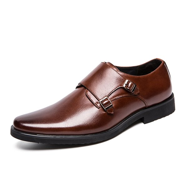 New Italian Design Mens Monk Strap Shoes Classic Genuine Cowhide Dress Shoe for Male Casual Formal Business Shoe Big Size SH5203265