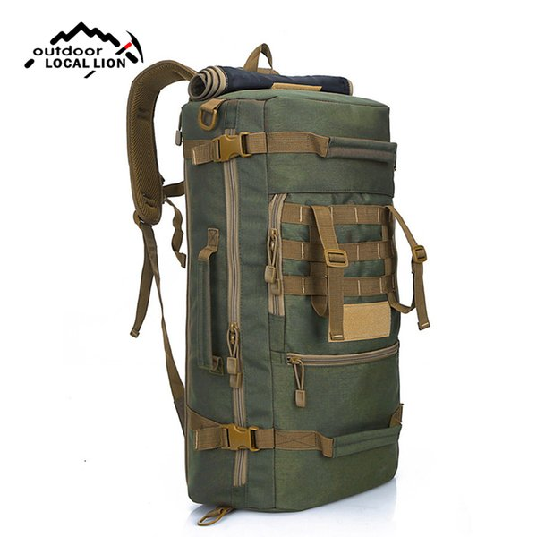 50l tactical backpack male multifunctional nylon molle system climbing rucksack travel hiking hunting fishing bags xa802wd thumbnail