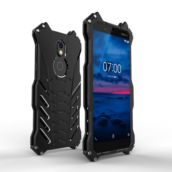 Luxury Batman Kickstand Shockproof Case For Nokia 7 Plus Aluminum Bumper Skin Armor Metal Back Cover