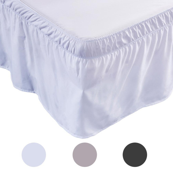 Hotel Queen Size Bed Skirt Solid color Bed Shirts without Surface Elastic Band Easy On Easy Off Queen Twin skirt