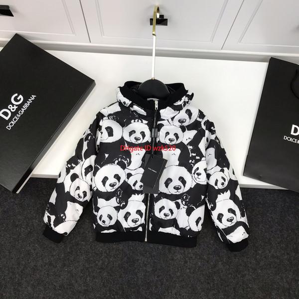 2019Enfants veste automne et hiver veste en coton léger veste manteau mignon panda élément manteau mâle fille calandre veste