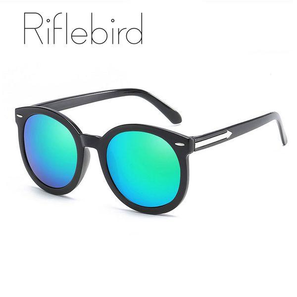 Riflebird round mirror lens sunglasses women brand arrow sun glasses women's gafas de sol mujer vintage okulary 2019 oculos