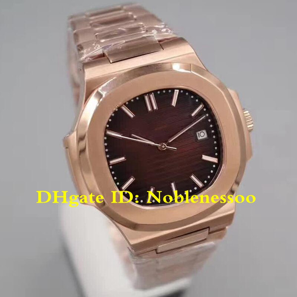 8 Color Classic Model Top Luxury Mens Watch New Nautilus Brown Dial 18k Rose Gold Watch 5711/1R-001 5711 Mechanical Automatic Men's Watches
